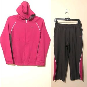 Gray and pink Reebok Outfit size Small